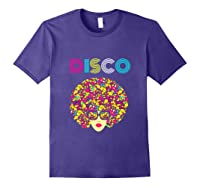 I Love Music Dancer Retro Vintage Disco Ball Disco Gift T Shirt Purple