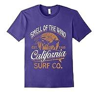 Retro Surf Shirt California Surfer Gift Cali Purple