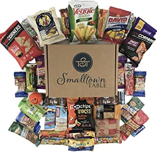 Healthy Snacks Care Package - (35 count) Premium Sampler Gift Box of Protein Bars, Fruit Snacks, Trail Mix, Nuts, Popcorn, Veggie Straws, More
