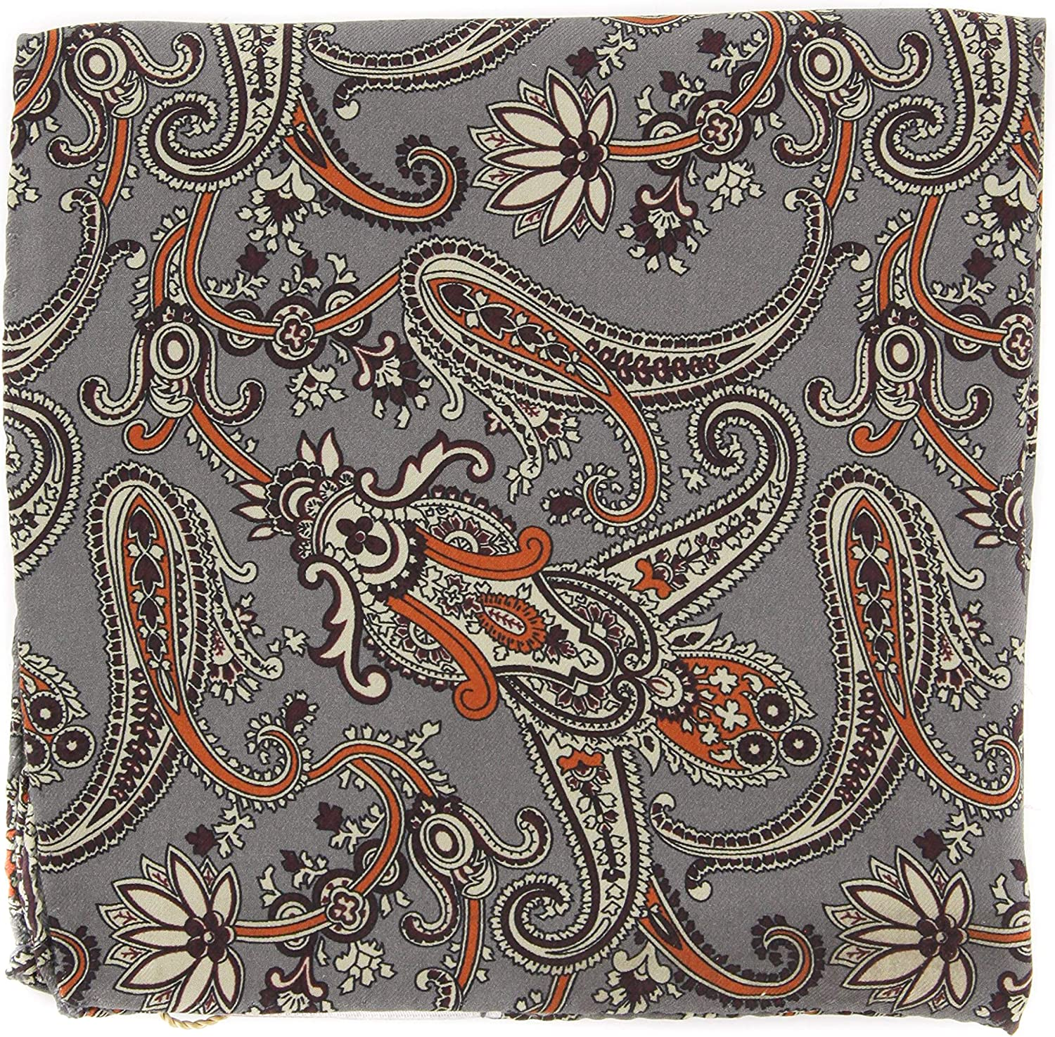 New Luciano Barbera Gray 35% OFF Paisley 2021 autumn and winter new Square - Pocket x 13