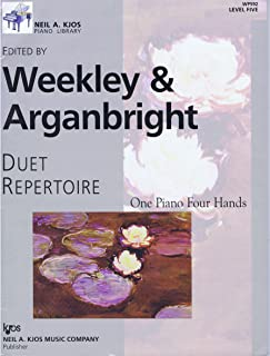 Duet Repertoire - One Piano Four Hands - Level Five - Edited By Weekley & Arganbright