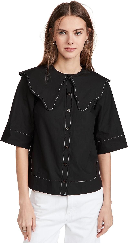 Ganni Women's Cotton Poplin Shirt