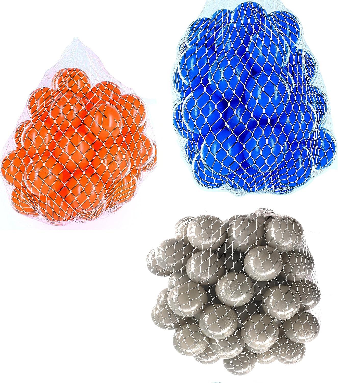 hasta un 65% de descuento Pelotas para pelotas pelotas pelotas baño variadas Mix con gris, azul y naranja Talla 9000 Stück  ¡no ser extrañado!