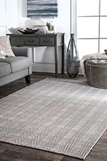 nuLOOM Kimberely Hand Loomed Area Rug, 10' x 14', Grey