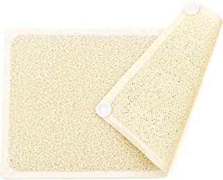 Loofah Shower Mat with Eight Suction Cups Non Slip Mildew Resistant
