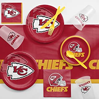 Creative Converting Kansas City Chiefs Game Day Party Supplies Kit, Serves 8