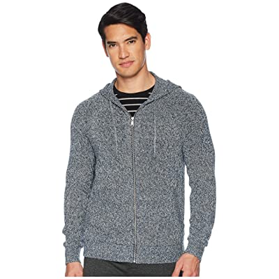 Vince Marled Full Zip Hoodie (Heather Denim) Men