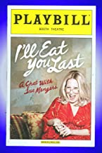 I'll Eat You Last A Chat With Sue Mengers, Opening Night Broadway Playbill + Bette Midler