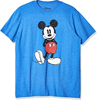 Disney Men's Full Size Mickey Mouse Distressed Look T-Shirt