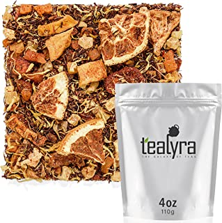 Tealyra - Mango 'n Friends - Rooibos Fruity Herbal Loose Leaf Tea Blend - Red Bush - Pineapple - Orange - Strawberry - Caffeine-Free - Vitamines Rich - Hot and Iced - 110g (4-ounce)