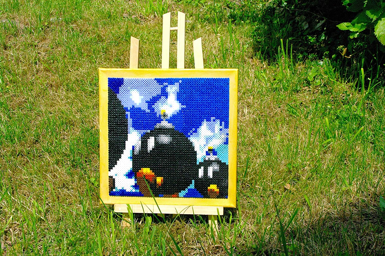 Frame Paint - Excellent Mario 64 perler Rare • beads art pixel