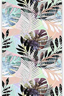 murando Fotomurales Hojas Tropicales Monstera 150x280 cm Papel pintado tejido no tejido Decoración de Pared decorativos Murales moderna de Dise?o Fotográfico Exotico Colorido b-B-0298-am-a
