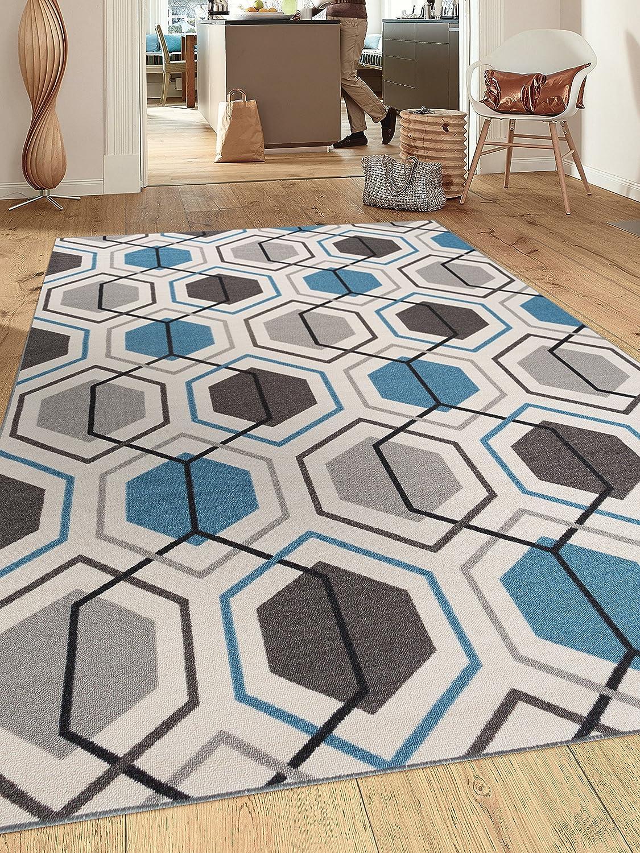 Contemporary Geometric Stripe Non-Slip Non-Skid 7 5 Rug Industry No. 1 Area X Be super welcome