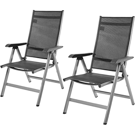 Amazon Basics 5-Position Adjustable Outdoor Chair, Set of 2