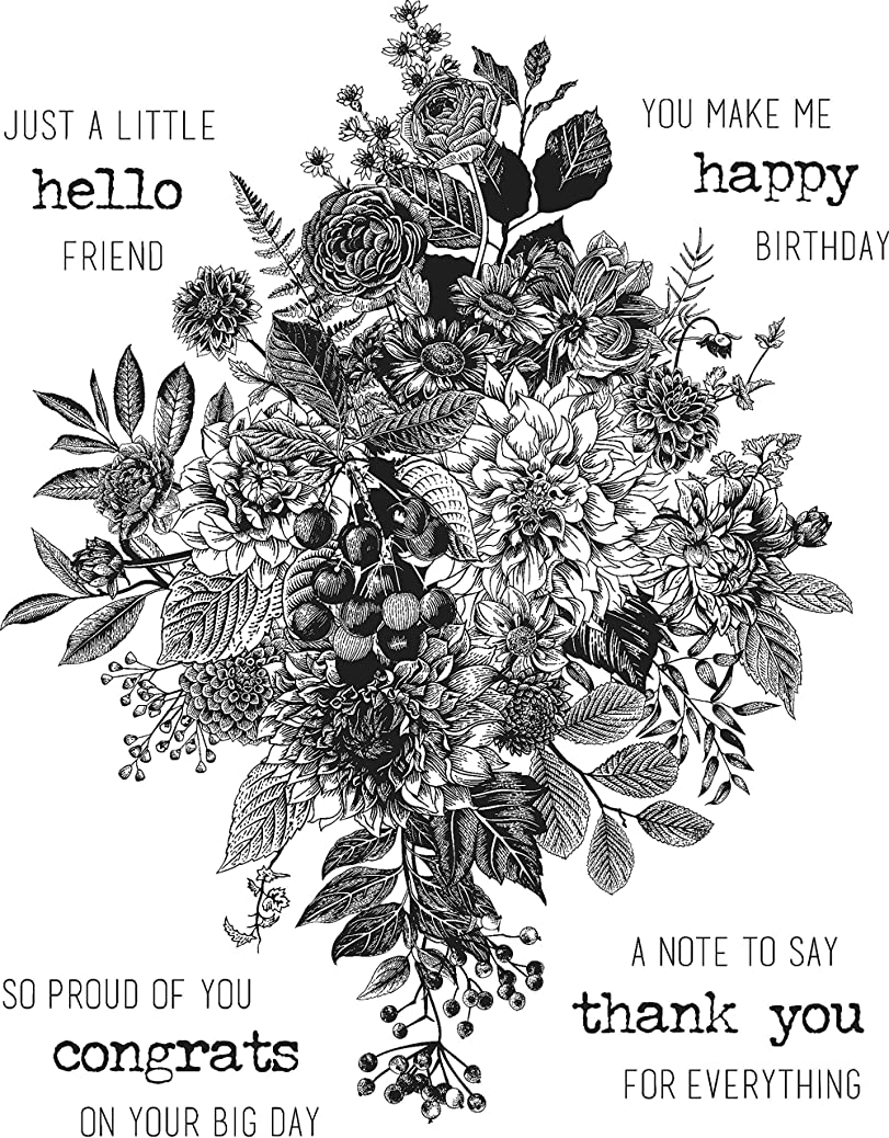 Tim Holtz Stampers Anonymous Glorious Bouquet Cling Stamp CMS325 ewknpmywof
