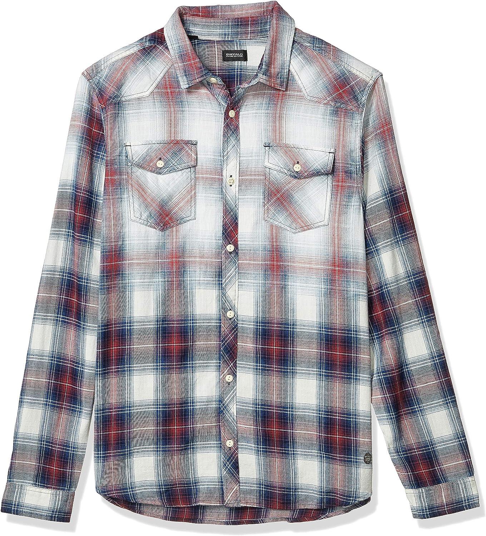 Buffalo David Bitton Men's Long Button Sale item Down Sleeve Plaid Max 43% OFF