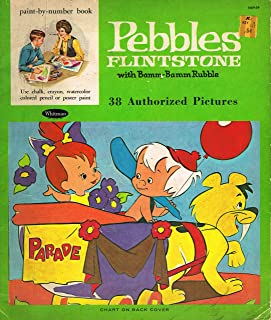 Pebble Flintstone and Bamm Bamm Coloring Book (Vintage)