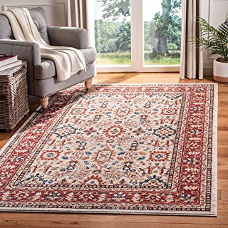 Safavieh CHL412A-4 Charleston Collection CHL412A Ivory and Red (4' x 6') Area Rug,