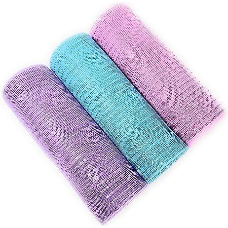 10 Iridescent Pastel pink Foil Mesh 10 yards Poly Mesh