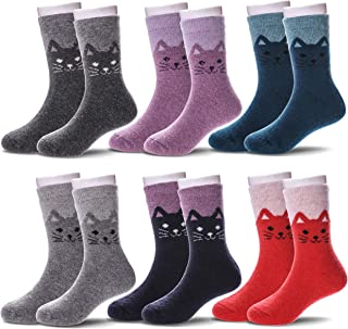6 Pairs Children's Winter Warm Wool Socks Kids Boys Girls Socks
