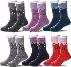 6 Pairs Children`s Winter Warm Wool Socks Kids Boys Girls Socks