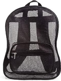 JumpOff Jo See Me Lightweight Mesh Backpack for Travel or School, Black
