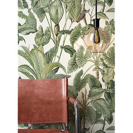 NEWROOM Papier peint floral vert fleur feuille floral intiss/é moderne for/êt nature