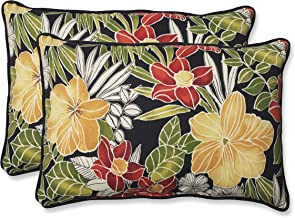 Pillow Perfect Outdoor Clemens Over-Sized Rectangular Throw Pillow, Noir, Set of 2