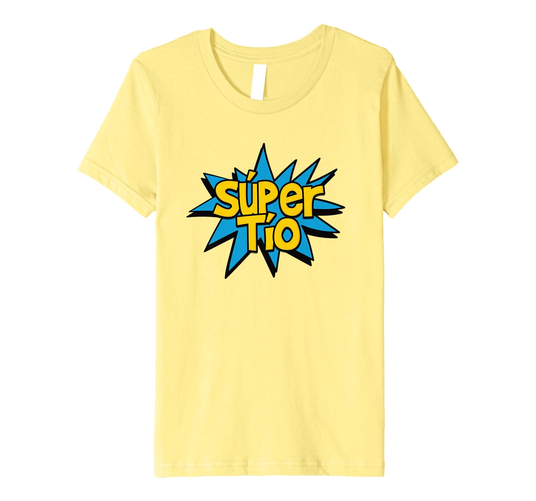 Amazon.com: Super Tio - Spanish Uncle Comic Hero Graphic T-shirt Tee: Clothing