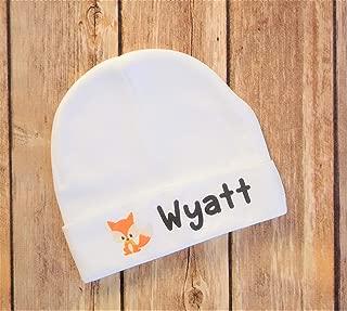 Wyatt Baby Beanie - 0 to 3 Months Baby Hat, Fox