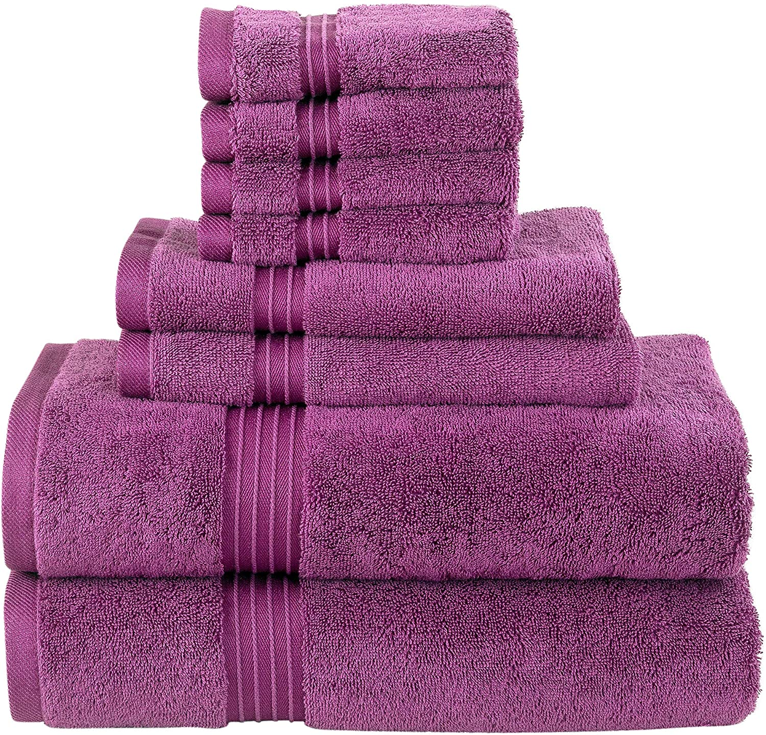 Gifts Cheap bargain Bliss Casa 8 Piece Towel Set; Hand 2 Bath Towels and 4