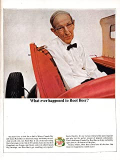 1964 Canada Dry- What Ever Happened To Root Beer-Original 13.5 * 10.5 Magazine Ad