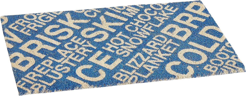Entryways Brrr Non Slip Coir Doormat