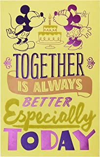 American Greetings Romantic Birthday Card (Romantic, Mickey and Minnie Mouse)