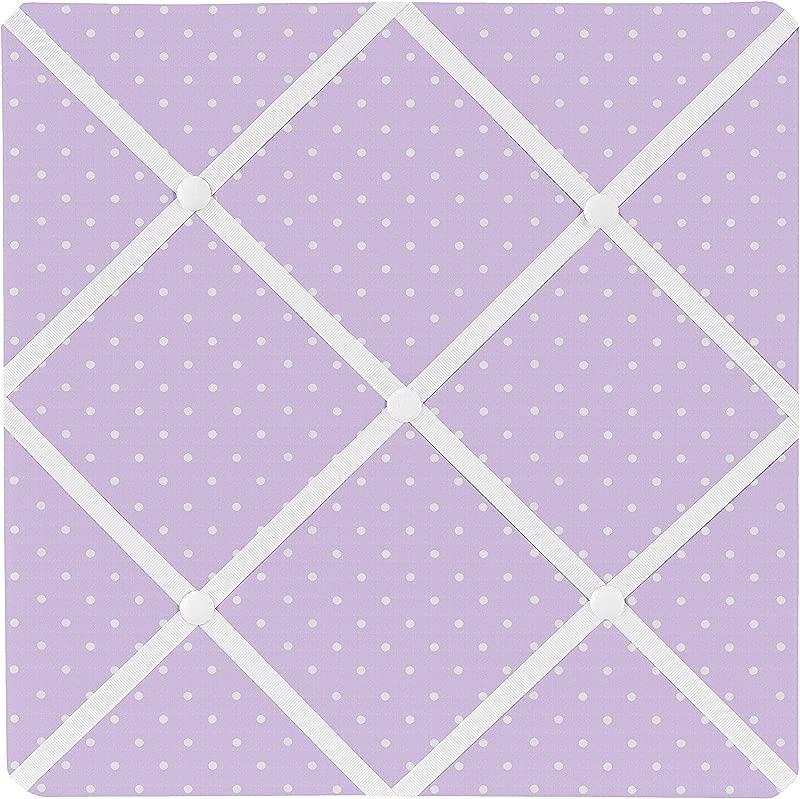 Sweet Jojo Designs Purple Polka Dot Fabric Memory Memo Photo Bulletin Board For Mod Dots Collection