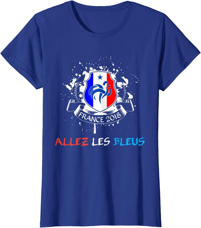 France Soccer Allez Les Bleus Football 2018 cup tee shirt