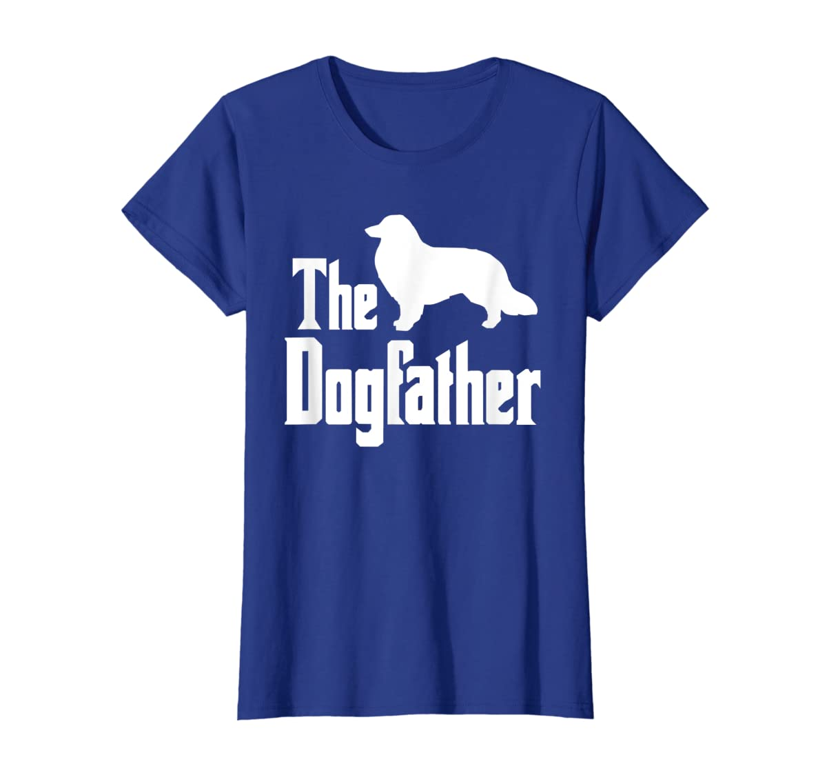 The Dogfather - funny Rough Collie T-Shirt, funny dog gift-Women's T-Shirt-Royal