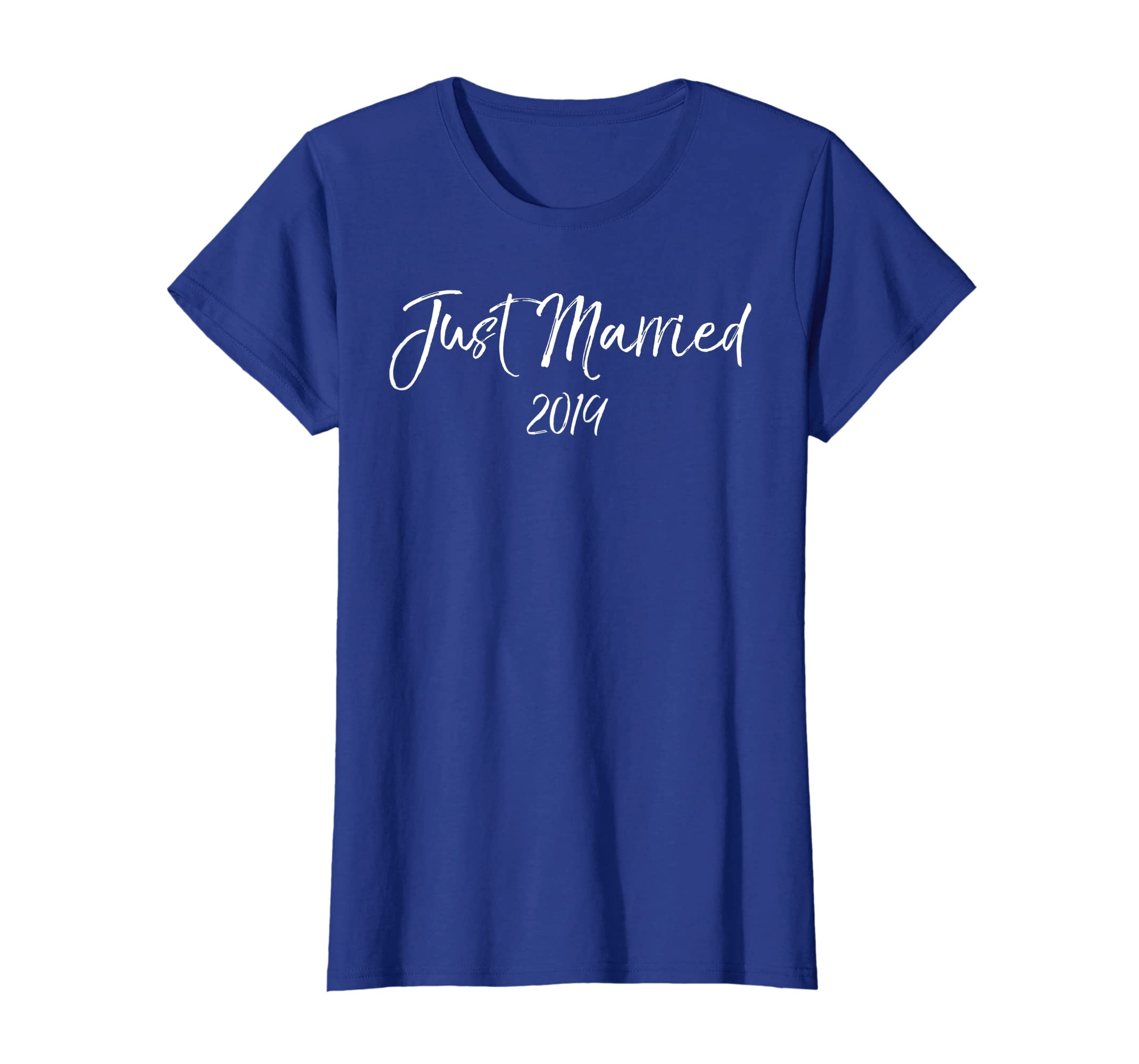 5b98abd8 Amazon.com: Just Married 2019 Shirt for Couples Cute Matching Honeymoon:  Clothing