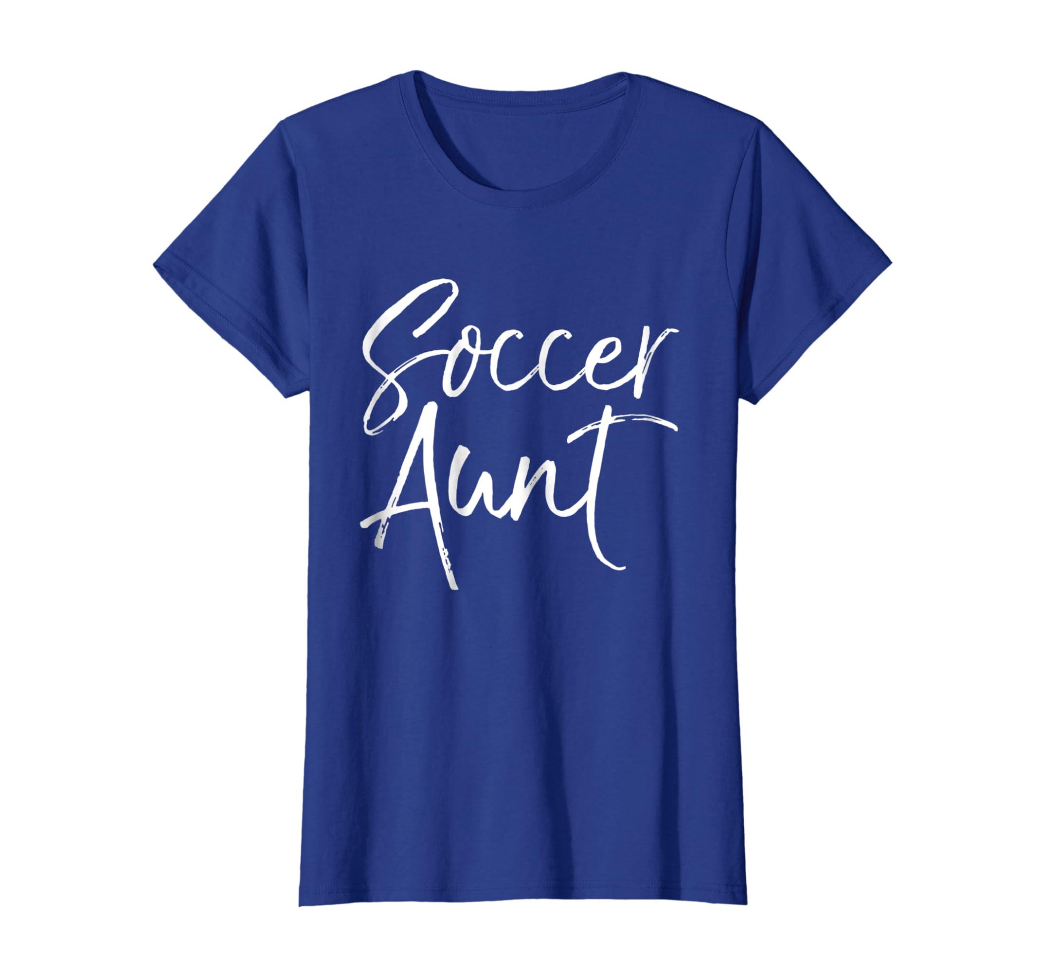 0b16bbb35bb Amazon.com: Soccer Aunt Shirt Proud Fun Cute Soccer Shirt for Auntie:  Clothing