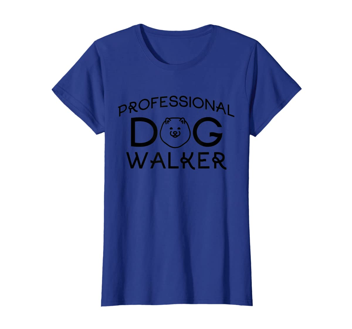 Professional Dog Walker Cute Puppy Tshirt Pet Lover T-Shirt-Women's T-Shirt-Royal