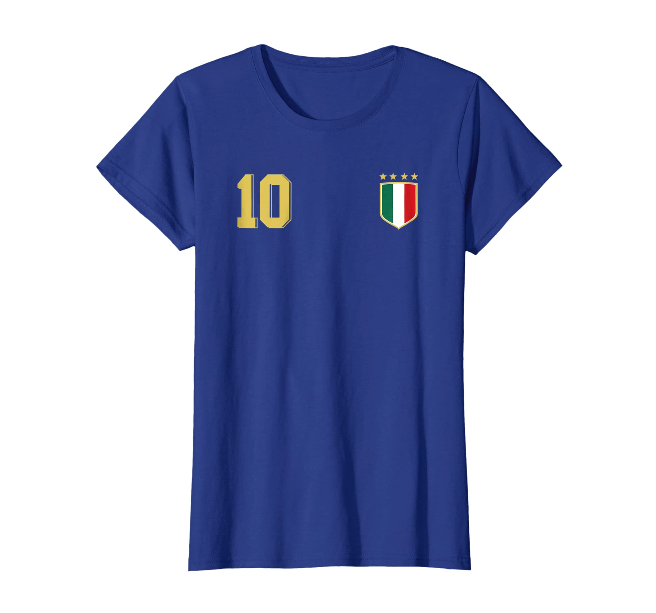 2d1558de25d Amazon.com  Retro Italy Soccer Jersey Italia Football T-Shirt Calcio 10   Clothing
