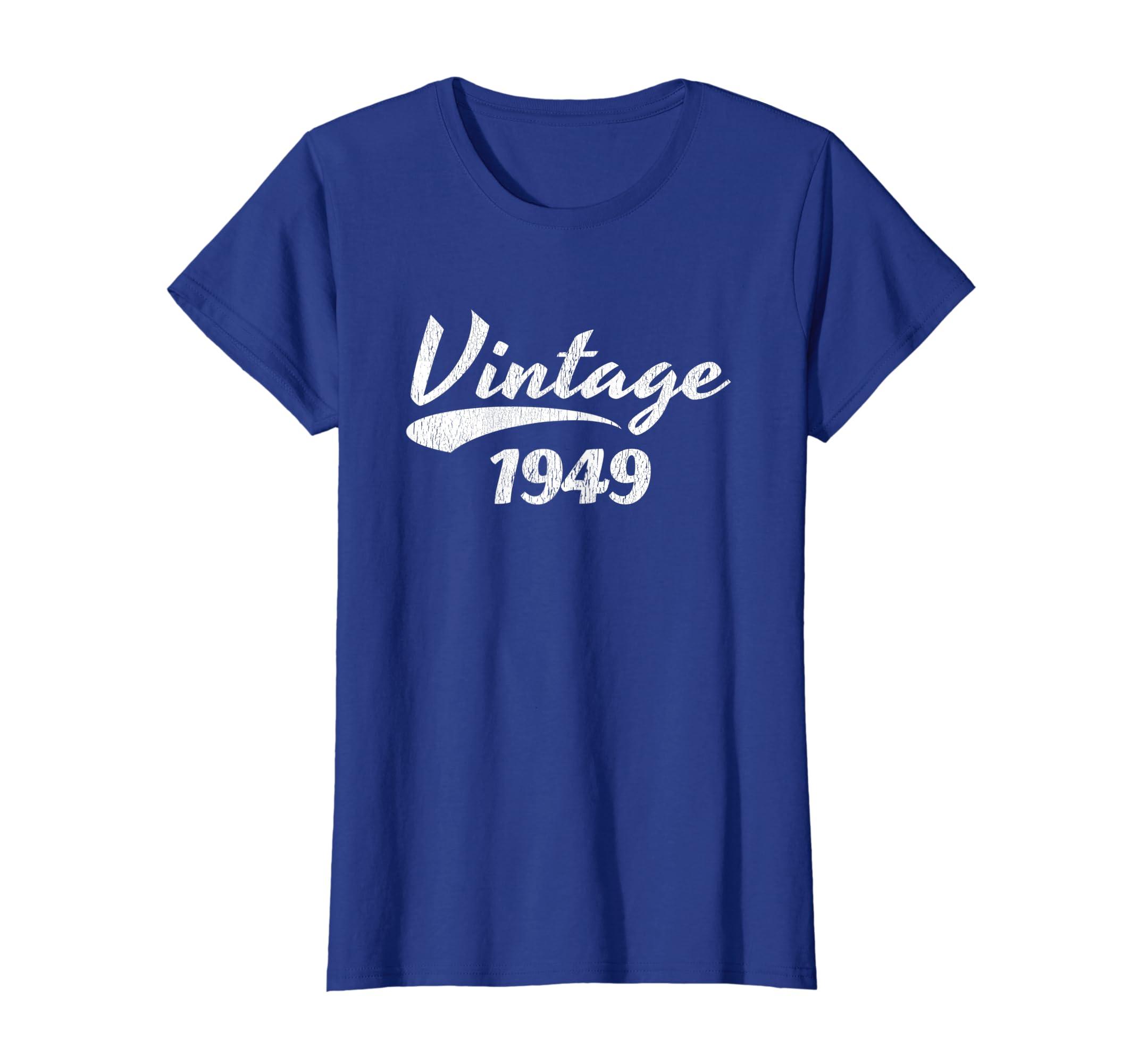 Amazon 70th Birthday T Shirt Gift Vintage 1949 Design Clothing
