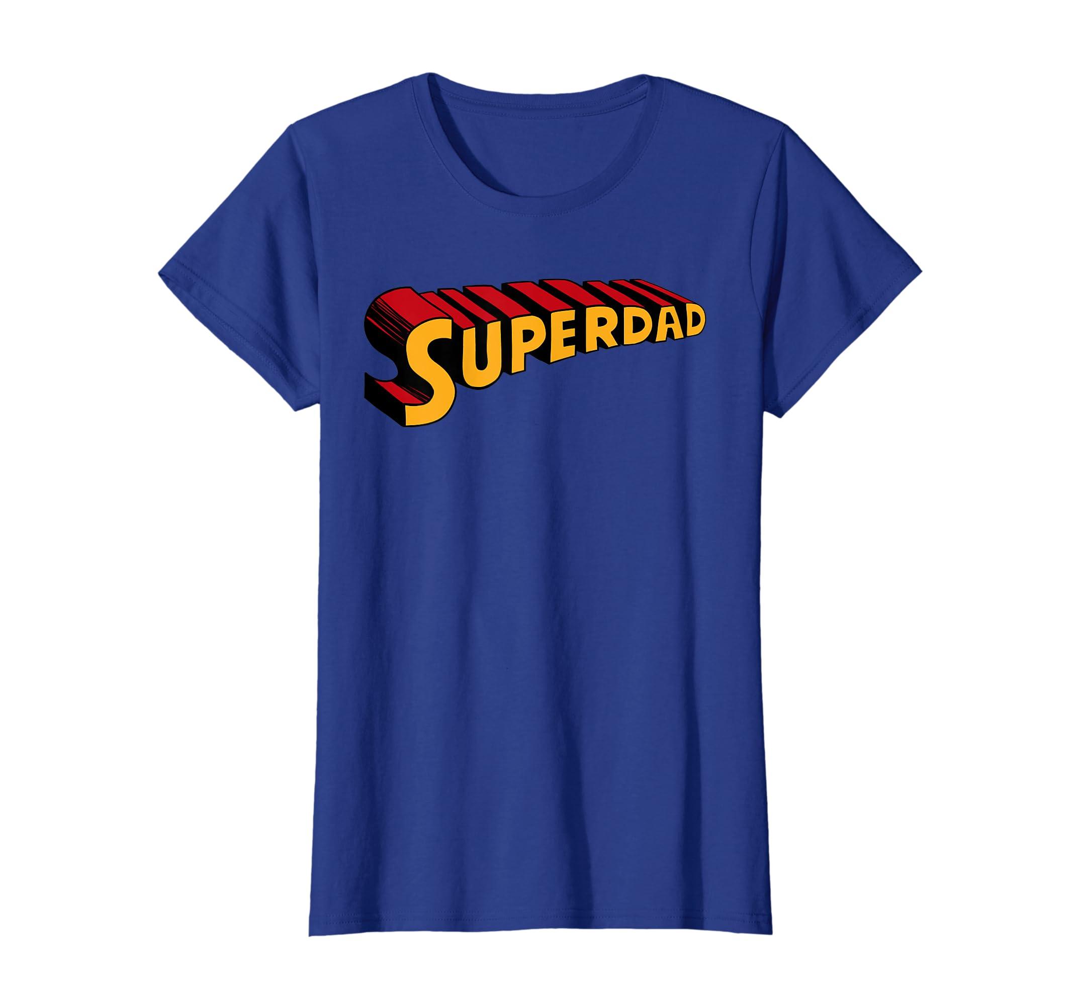 26b41b1f Amazon.com: Super dad Superdad shirt Funny Superhero Dad T-shirt: Clothing