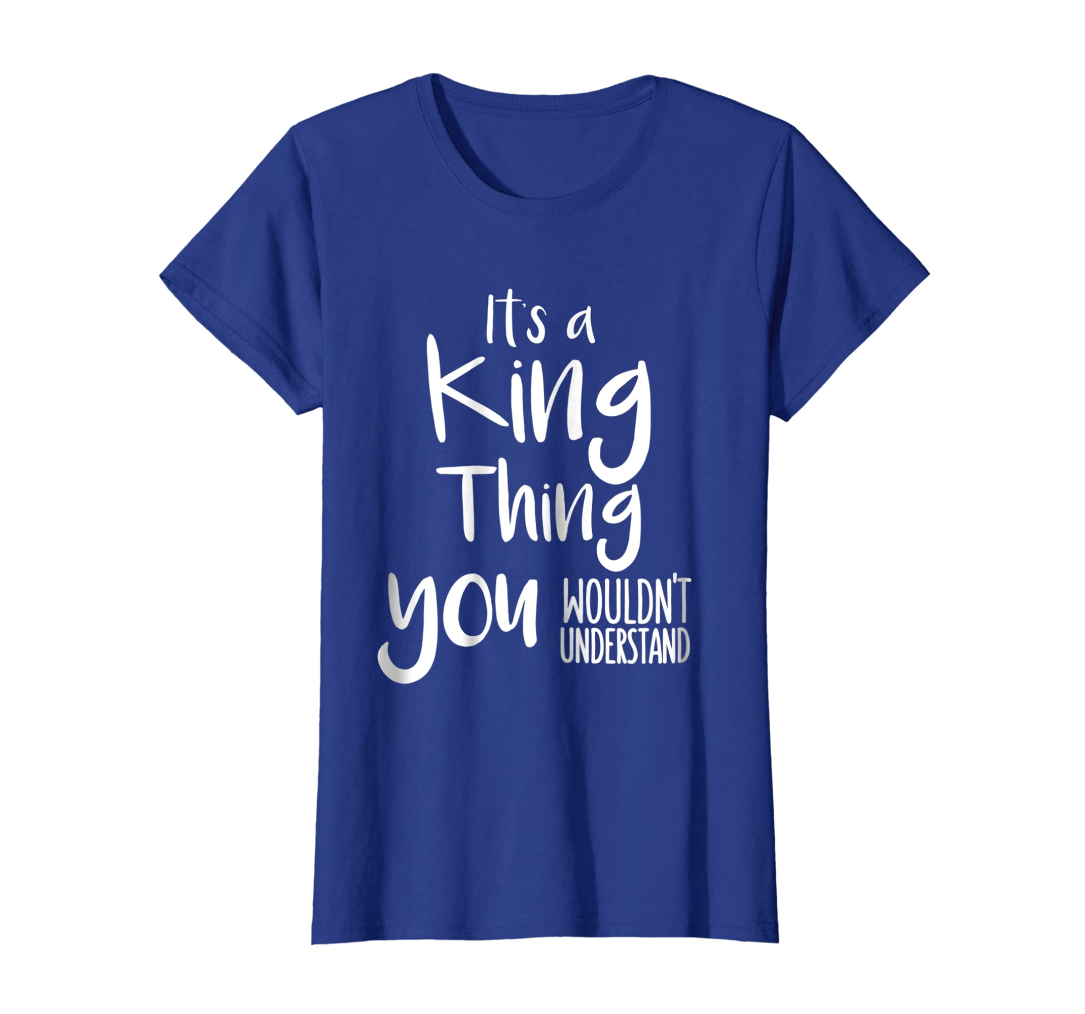 8d4cb6fe7 Amazon.com: Funny personalized Shirts: Family Name Shirts ITs a KING Tee:  Clothing