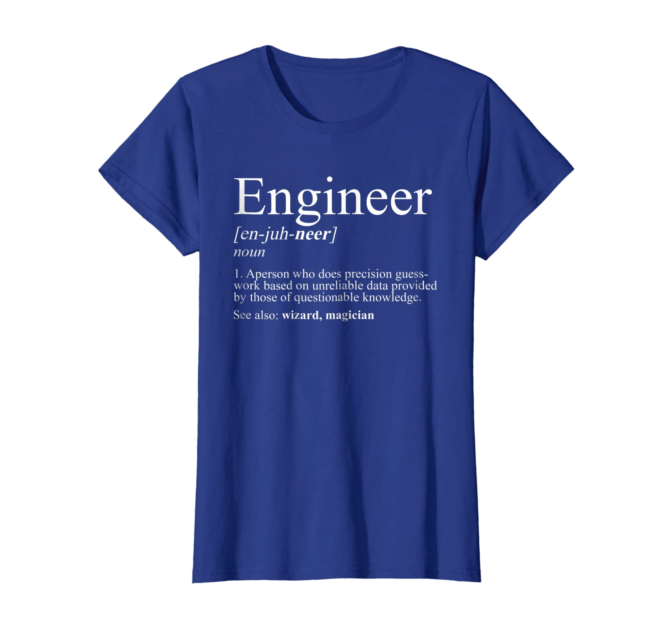 9b6b75d1f9 Amazon.com: Engineer Definition T Shirt, Funny Engineering Gift: Clothing