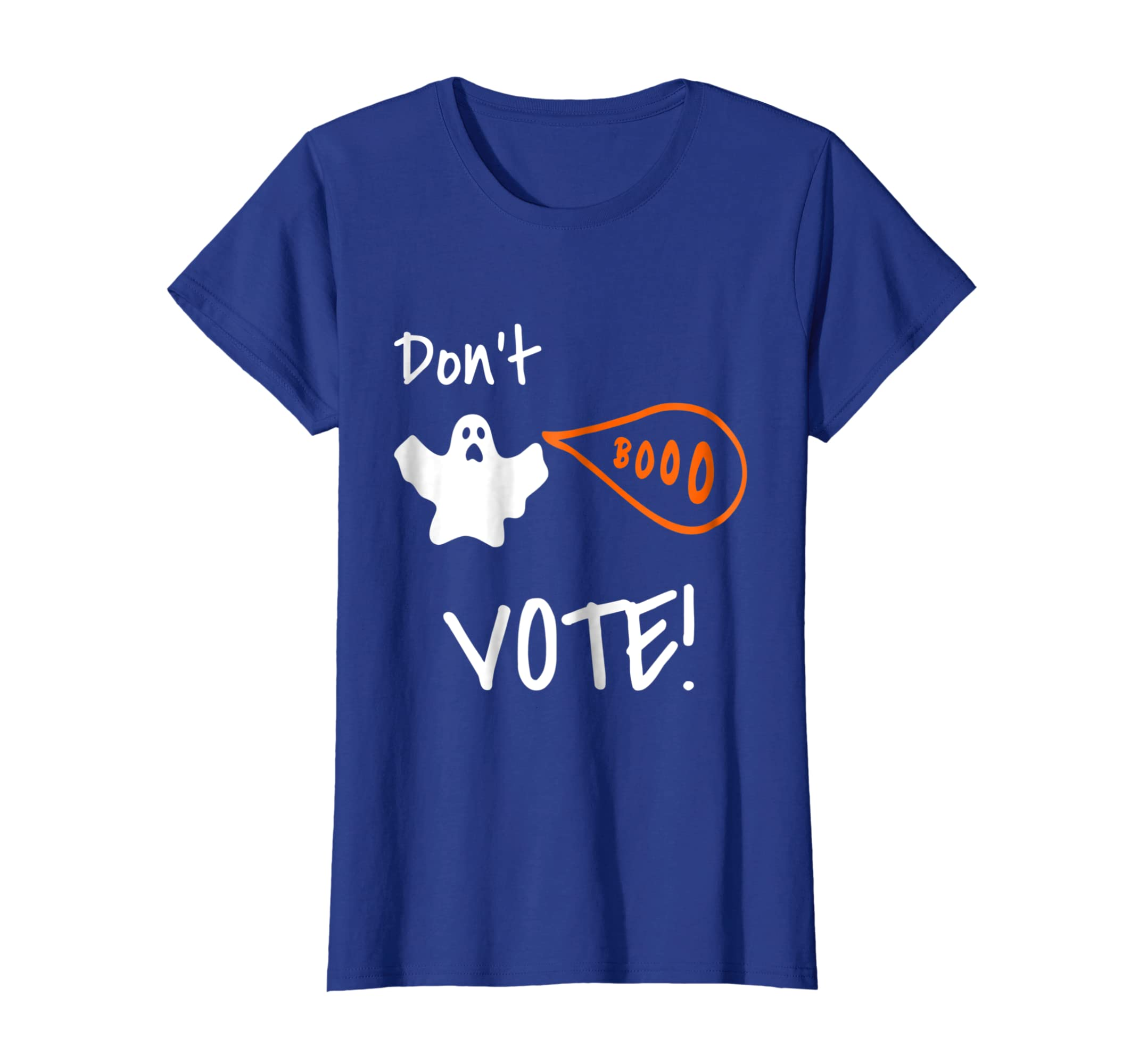 2a407f6f Amazon.com: Don't Boo, Vote! Halloween Politics T-Shirt: Clothing