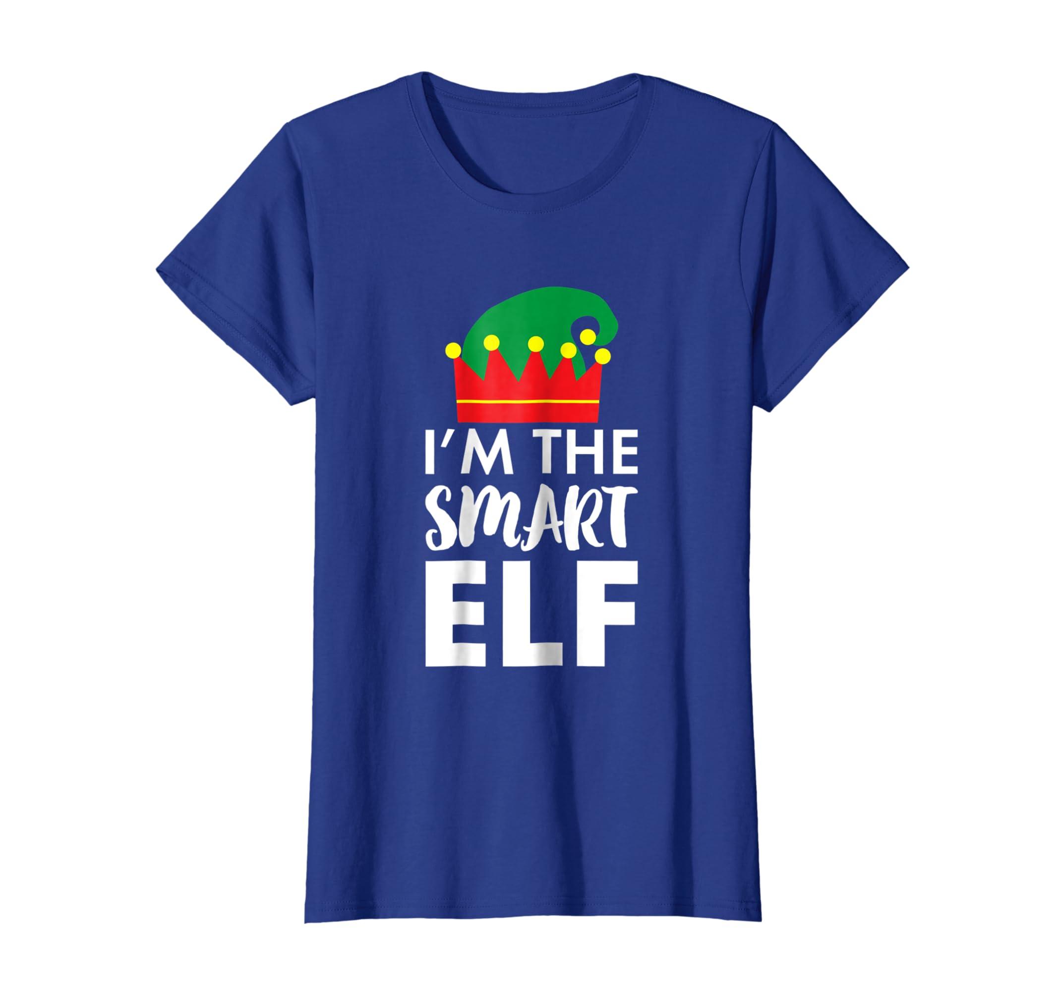 961f8feb Amazon.com: Cute Elf Smart T-Shirt Funny Clever Elf Shirt Holiday TShirt:  Clothing