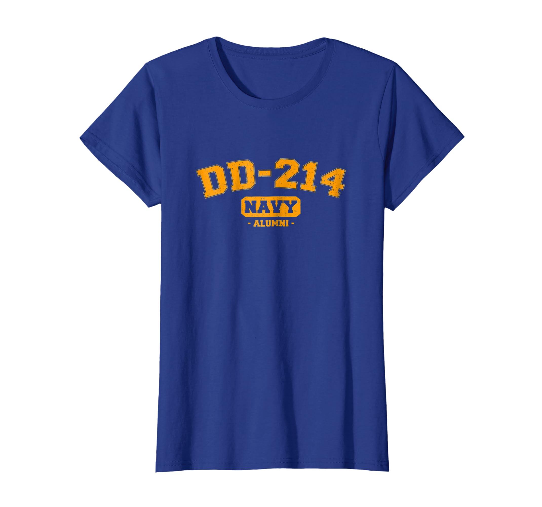 47b69913 Amazon.com: DD-214 US Navy Alumni Vintage T-Shirt: Clothing