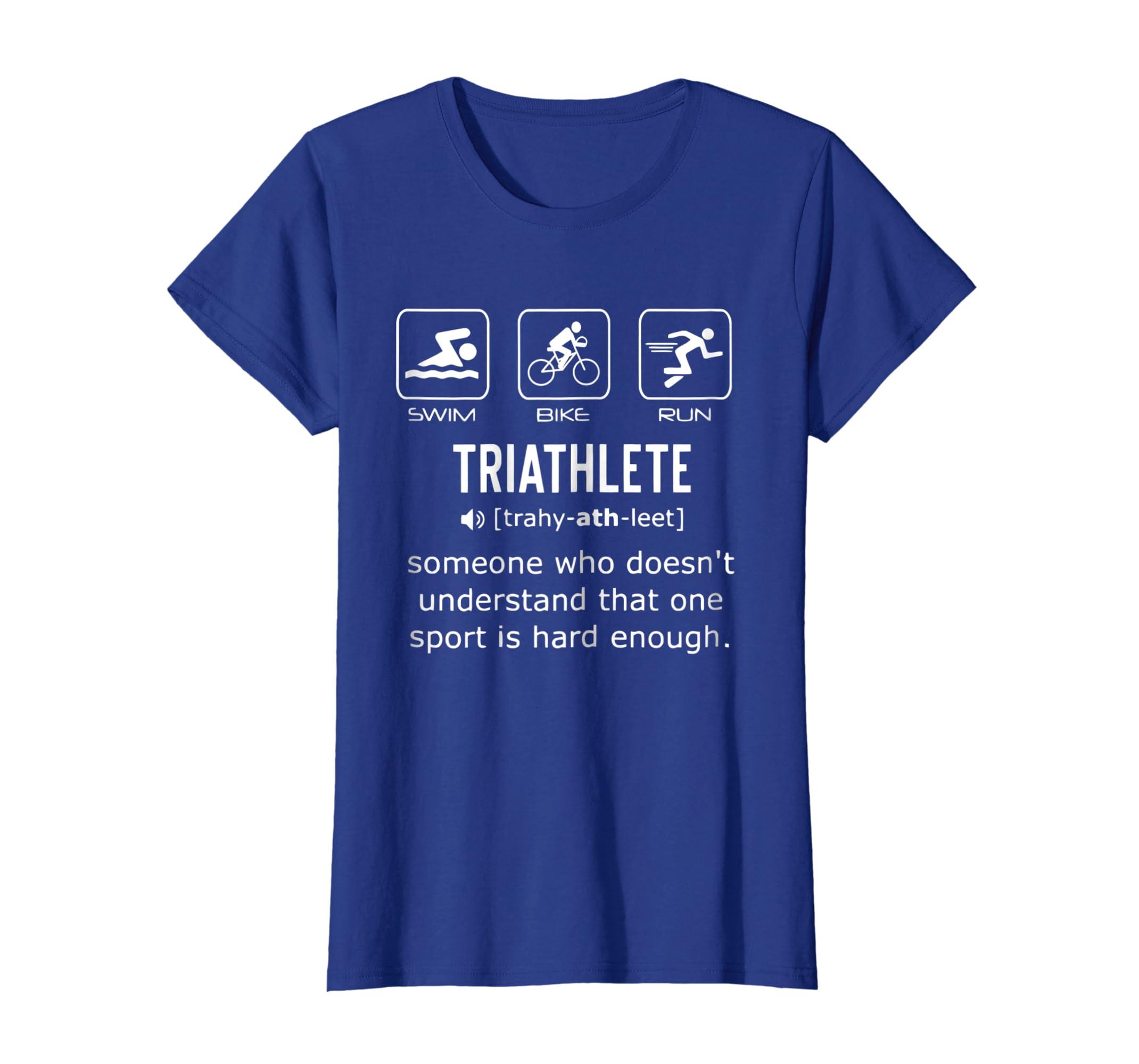 Amazon.com  Funny Triathlon Shirt- Triathlete Definition Swim 14eba7650
