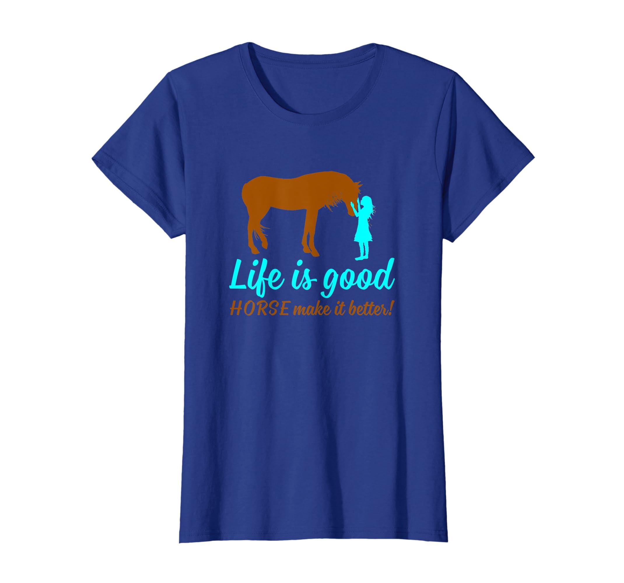 91b1615670a646 Amazon.com: LIFE IS GOOD HORSE MAKE IT BETTER T SHIRT: Clothing